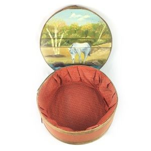 DUFECK'S | box cheese hand painted horse scene